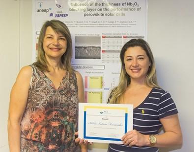 Inovação em células solares do CDMF é premiada pela SBPMat