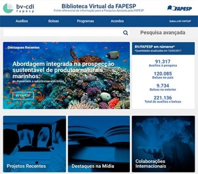 Biblioteca Virtual da FAPESP lança novo site