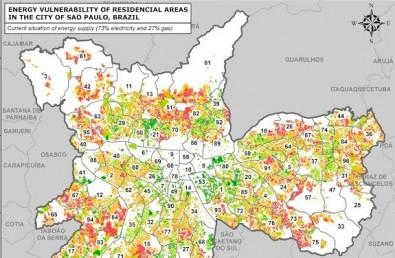 Pesquisadores apresentam mapa de vulnerabilidade energética em São Paulo