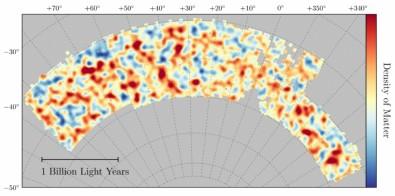 Sale el más preciso mapa de la distribución de la materia oscura en el Universo