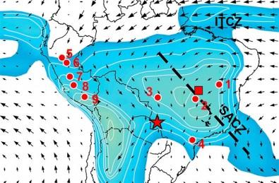 Pesquisa traça 2 mil anos da história das chuvas no Brasil