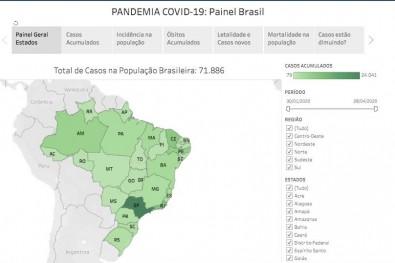 Plataforma reúne gráficos interativos sobre a evolução da COVID-19 no Brasil