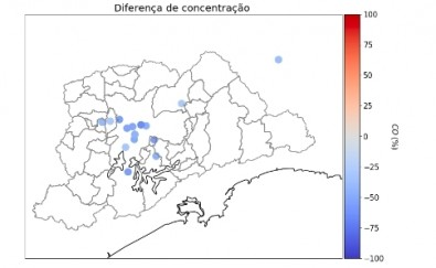 Pollution in São Paulo fell by 50% in just one week but remains high in the city center