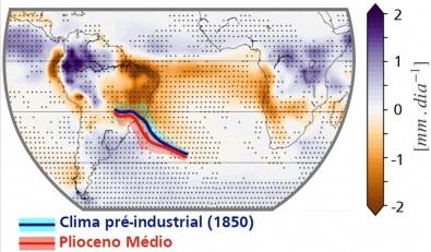 Hemisfério Sul pode registrar até 30% menos chuva no fim do século se a temperatura da Terra subir 3ºC
