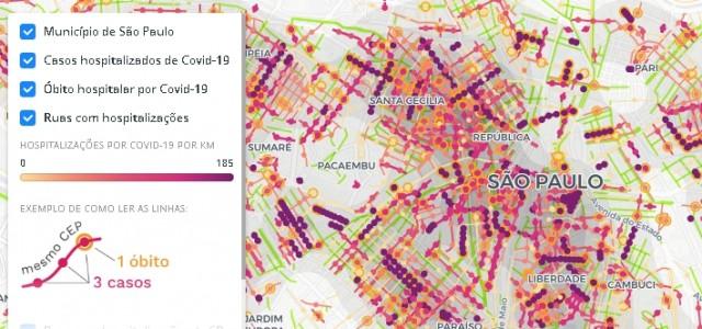 Mapa de hospitalizações pode servir de base para planos territorializados de combate à pandemia